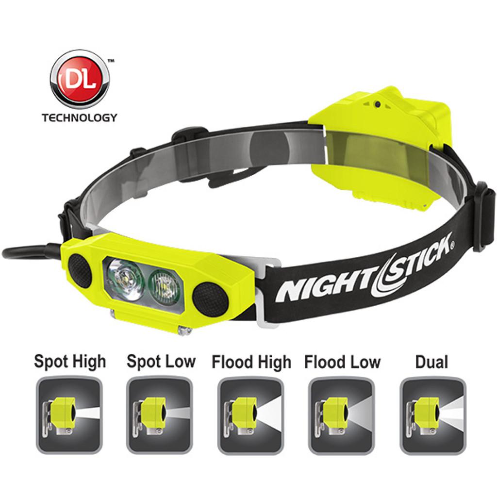 Bayco #XPP-5462 Nightstick X-Series I.S. Low-Profile Dual Light Headlamp - Choose Color