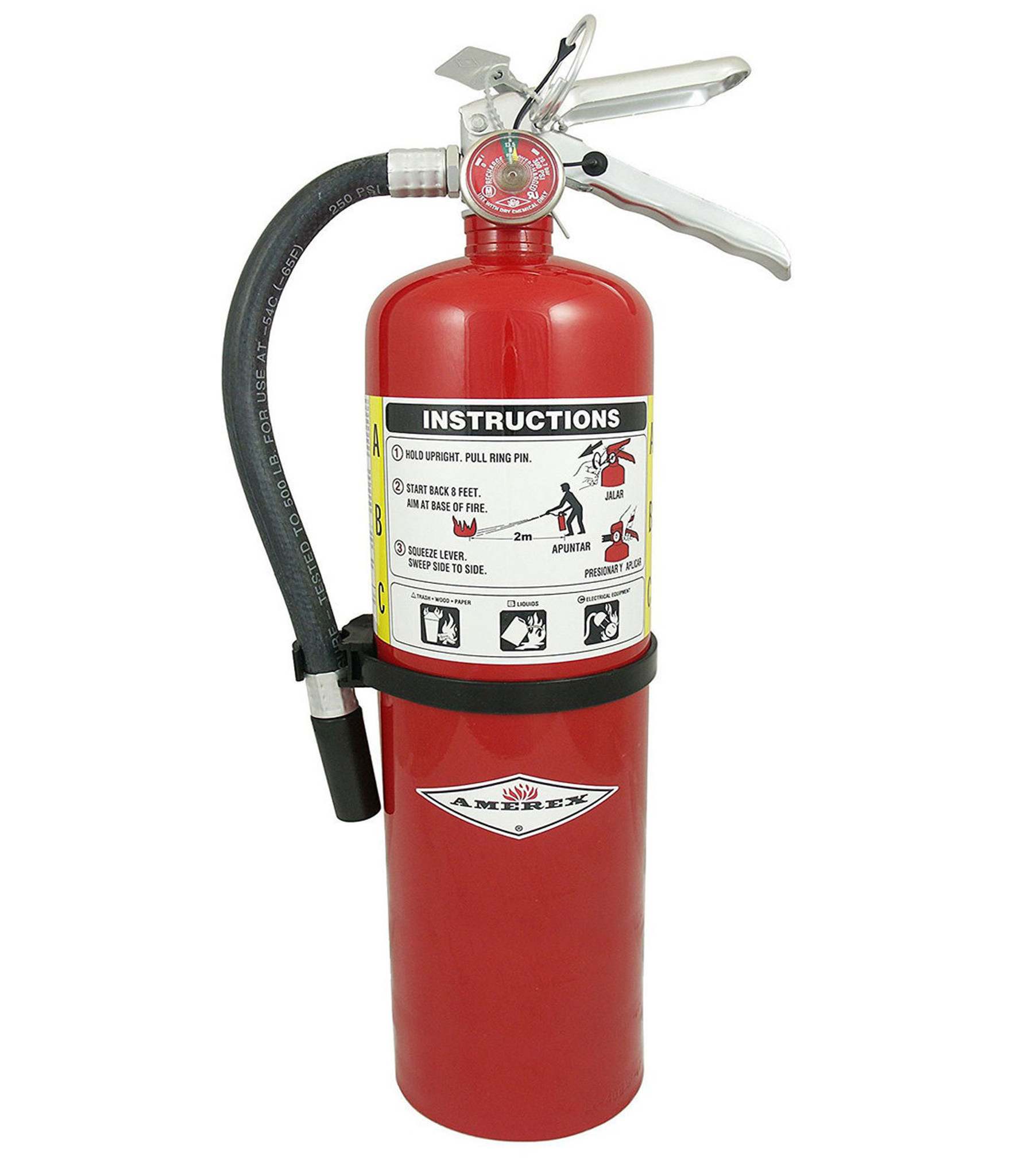 Abc Fire Extinguisher >> Amerex Ax411 20 Lb Abc Dry Chemical Fire Extinguishers