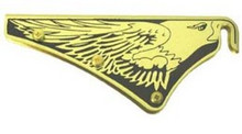Cairns Silk-Screened Black Eagle Front Holder with Holes & Fasteners
