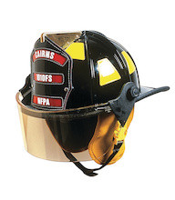 "Cairns #1010FS Standard Traditional Fiberglass Composite Fire Helmet with 4"" Faceshield"