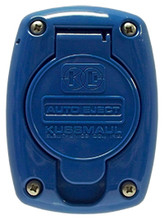 Kussmaul #091-55BL Receptacle Cover For 15 & 20 Amp Super Auto Eject - Blue