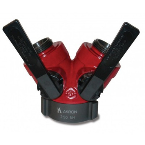 """Akron 2.5"""" F x (2) 1.5"""" M Leader Line Wye with Polymer Handles"""