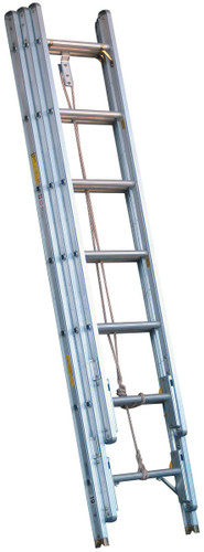 Alco-Lite PEL3 Series Aluminum 3-Section Extension Ladder - SELECT SIZE BELOW