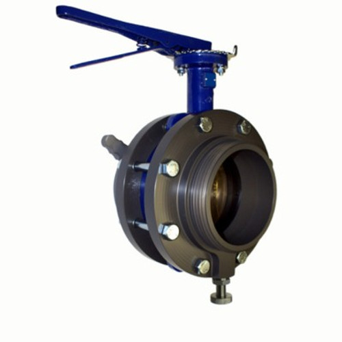 "Harrington 6"" LHF Swivel X 6"" Male Butterfly Valve"