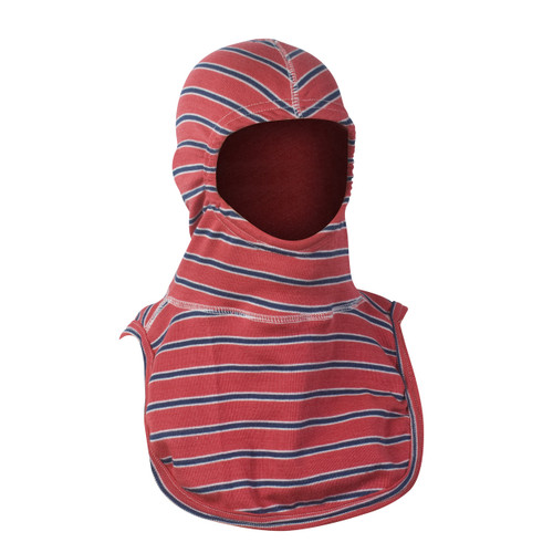 "Majestic ""Americana"" PAC II Fire Fighter Hood - Red with White and Blue Stripes"
