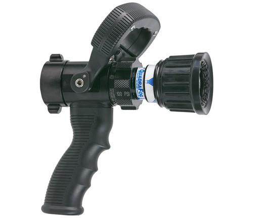 "TFT Legacy #DQS40P 1"" Quadrafog Nozzle with Shutoff and Pistol Grip - 5, 10, 24, 40 GPM @ 100 PSI"