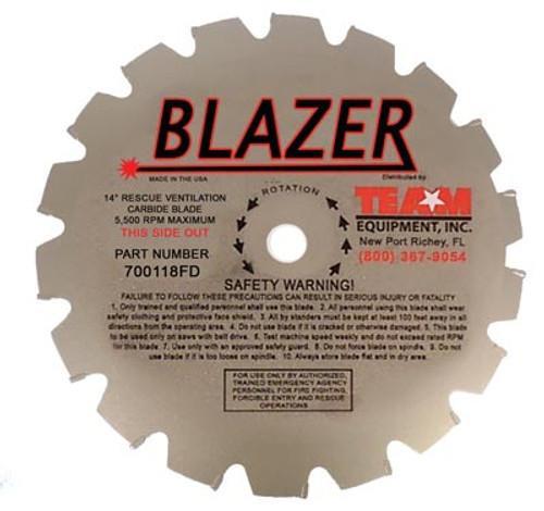 "Team Equipment #700216FD 12"" / 16 Tooth Blazer Carbide Tip Replacement Blade"