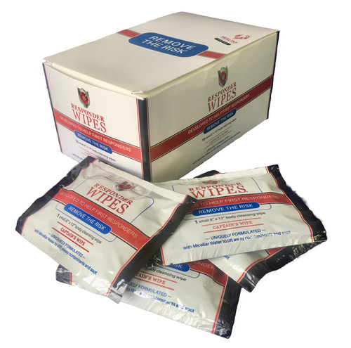 "RESPONDER WIPES (16-CT) CAPTAIN'S WIPE 8""x12"" - PER CARTON"