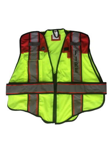 Fire Ninja Ultrabright Red Public Safety Vest - Fire