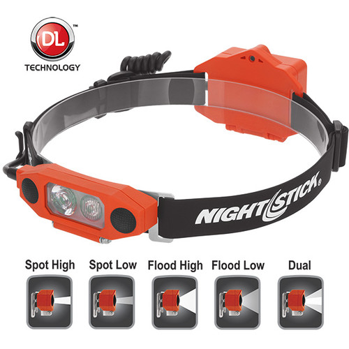 Bayco #XPP-5462 Nightstick X-Series I.S. Low-Profile Dual Light Headlamp - Choose Color