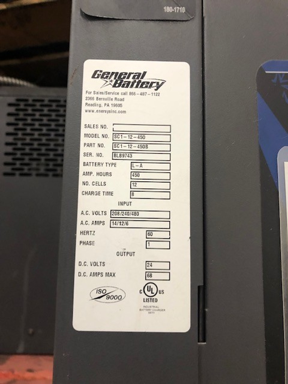 1 phase 24 volt 208/240/480 volts in battery charger