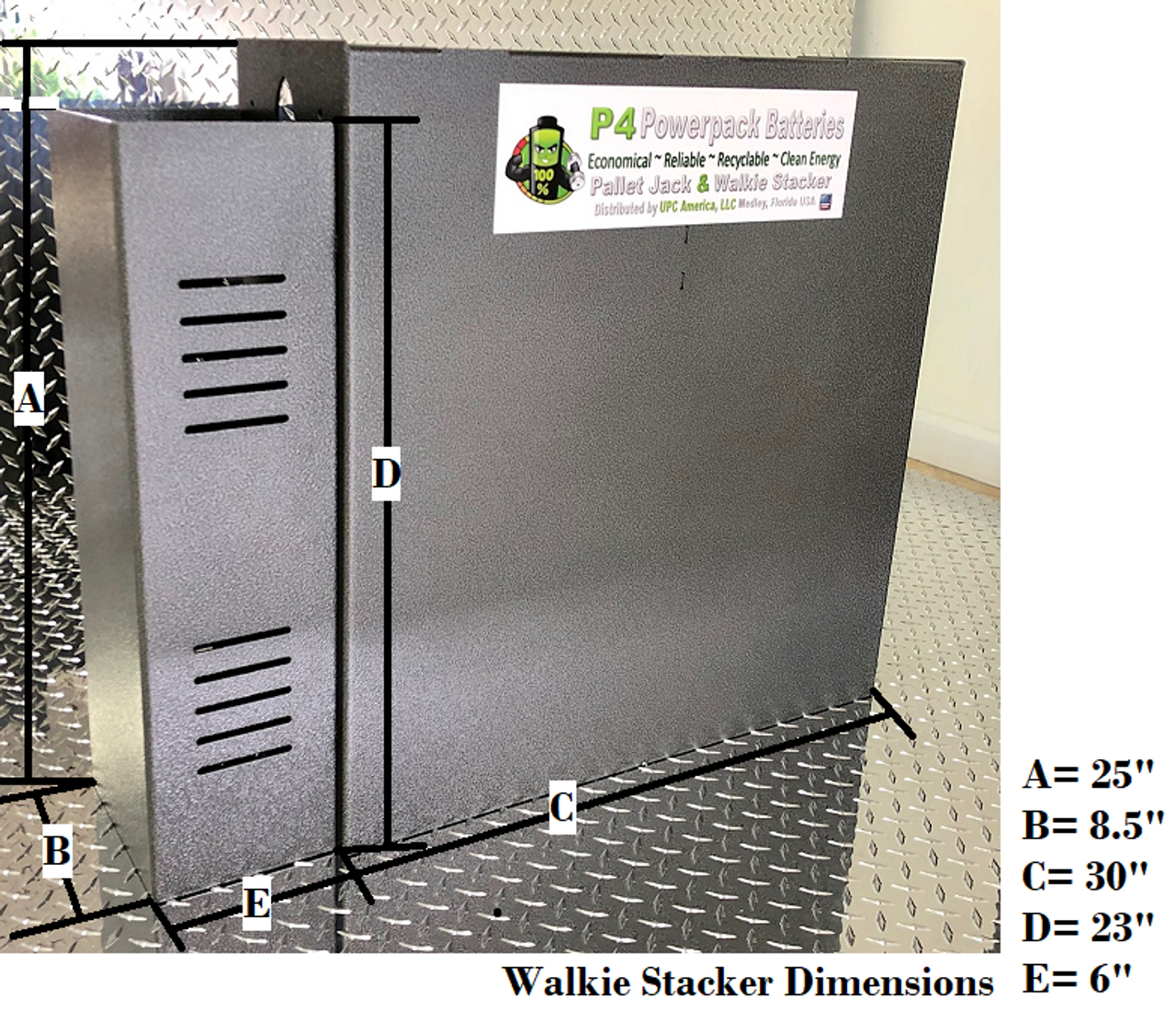 Walkie Stacker Battery 24 Volt with On-Board Charger
