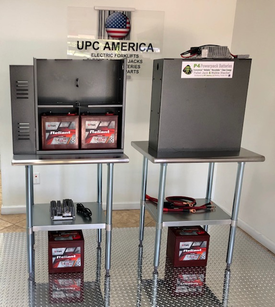 Powerpack Showroom Display 24 Volt Trojan AGM Batteries with On-Board 24 Volt Charger