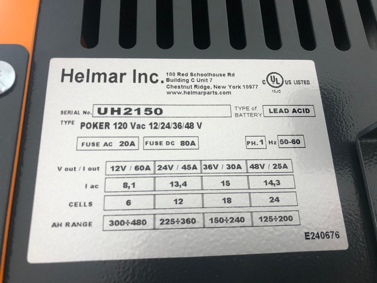 Multi volt NEW Single Phase Battery Charger  12/24/36/48 Volt