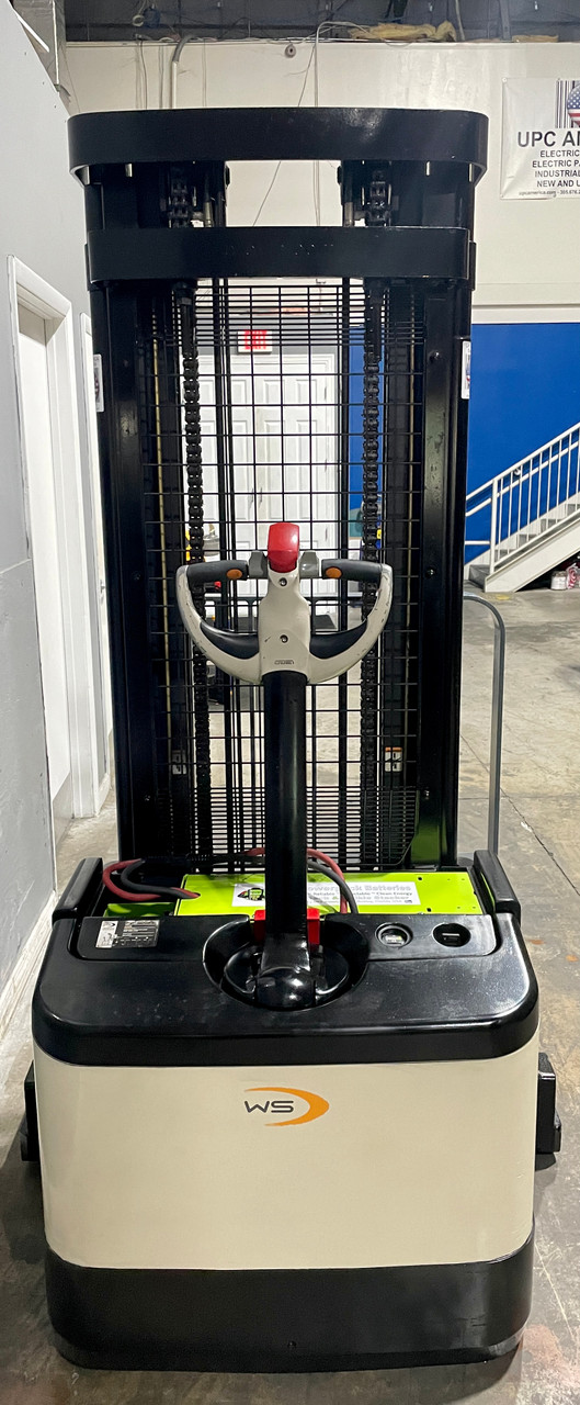 Certified Pre-Owned Electric Pallet Stacker For Sale