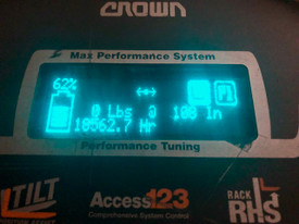 """2013 Crown RMD Double Reach 6000 Series 107""""/ 240""""  2015 Load Tested Battery Freezer conditioned"""
