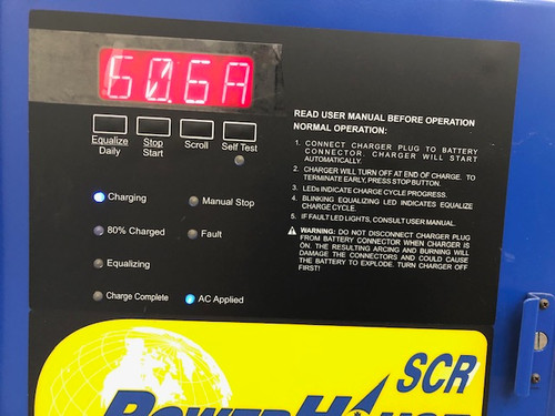 24 Volt Powerhouse Battery Charger  1 Phase, 380 Amp Hour 208/240/480 Volts Input