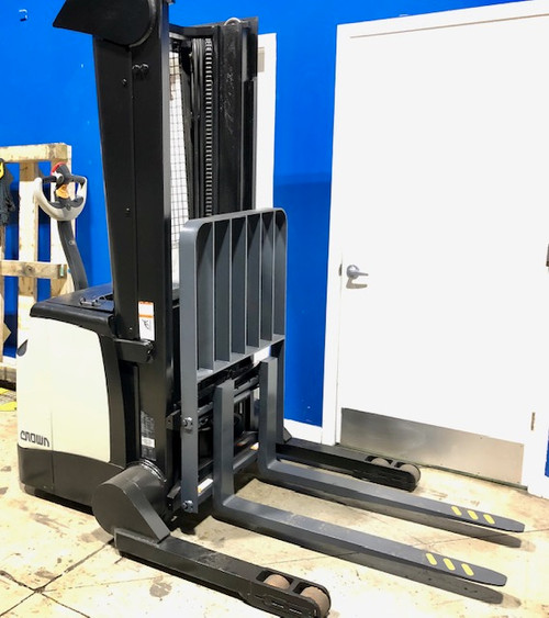 2013 Crown Walkie Stacker Model SH5500 4,000 Lb Capacity, Side Shift, New Battery with Charger