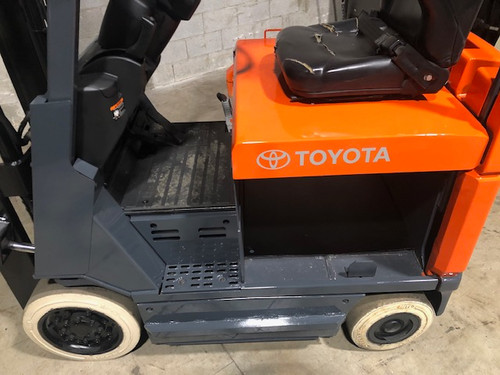 """2014 Toyota Electric Forklift  Chassis Only  No Battery 217"""" H Cap 3,000 lbs Stock # 7888"""