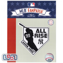 """Aaron Judge """"All Rise"""" MLB Logo Jersey Sleeve Patch Licensed New York Yankees"""