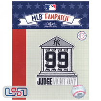 """Aaron Judge """"Judgement Day"""" MLB Logo Jersey Sleeve Patch Licensed Yankees"""