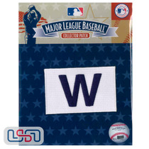 "2016 Chicago Cubs Champions FLY THE ""W"" MLB Logo Jersey Sleeve Patch Licensed"