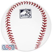 Colorado Rockies 25th Anniversary Official MLB Rawlings Baseball - Boxed
