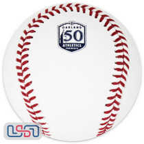 Oakland Athletics 50th Anniversary Official MLB Rawlings Baseball - Boxed