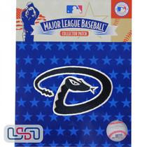 "Arizona Diamondbacks ""Snake"" Hat MLB Logo Jersey Sleeve Patch Licensed"