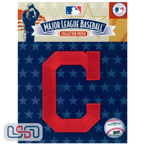 "Cleveland Indians Block ""C"" Team Hat MLB Logo Jersey Sleeve Patch Licensed"