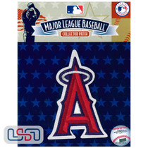 """Los Angeles Angels Silver """"A"""" Holo Team MLB Logo Jersey Sleeve Patch Licensed"""