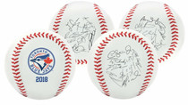 Toronto Blue Jays 2018 Rawlings Team Roster MLB Replica Autograph Baseball