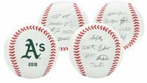 Oakland Athletics 2018 Rawlings Team Roster MLB Replica Autograph Baseball