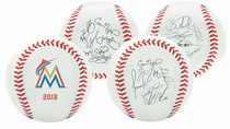 Miami Marlins 2018 Rawlings Team Roster MLB Replica Autograph Baseball