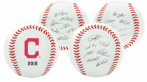 Cleveland Indians 2018 Rawlings Team Roster MLB Replica Autograph Baseball