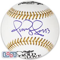 Omar Vizquel Indians Signed Autographed Gold Glove Award Baseball JSA Auth