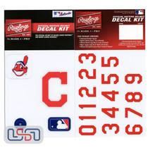 Cleveland Indians MLB Baseball Batting Helmet Rawlings Decal Kit