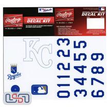 Kansas City Royals MLB Baseball Batting Helmet Rawlings Decal Kit