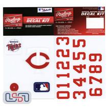 Minnesota Twins MLB Baseball Batting Helmet Rawlings Decal Kit