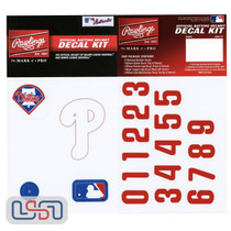 Philadelphia Phillies MLB Baseball Batting Helmet Rawlings Decal Kit