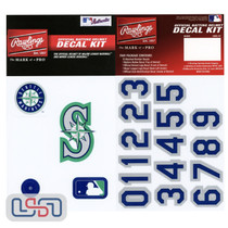 Seattle Mariners MLB Baseball Batting Helmet Rawlings Decal Kit