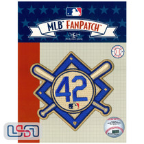 Jackie Robinson #42 MLB Logo Jersey Sleeve Patch Licensed Brooklyn Dodgers
