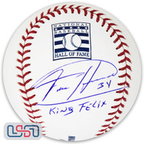 "Felix Hernandez Mariners Signed ""King Felix"" Hall of Fame Baseball JSA Auth"