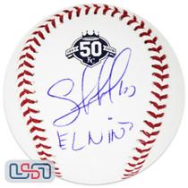 "Salvador Perez Royals Signed ""El Nino"" 50th Anniversary Baseball JSA Auth"