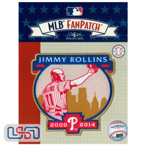 Jimmy Rollins Retirement MLB Logo Jersey Sleeve Patch Licensed Phillies