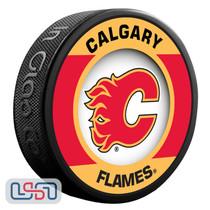 Calgary Flames Official NHL Retro Team Logo Souvenir Hockey Puck