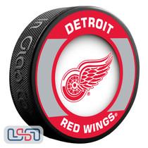 Detroit Red Wings Official NHL Retro Team Logo Souvenir Hockey Puck