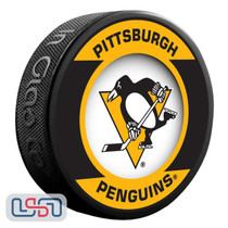 Pittsburgh Penguins Official NHL Retro Team Logo Souvenir Hockey Puck