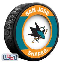 San Jose Sharks Official NHL Retro Team Logo Souvenir Hockey Puck
