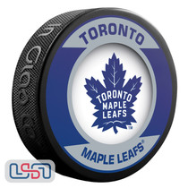 Toronto Maple Leafs Official NHL Retro Team Logo Souvenir Hockey Puck